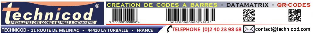 TECHNICOD ETIQUETTES CODES BARRES